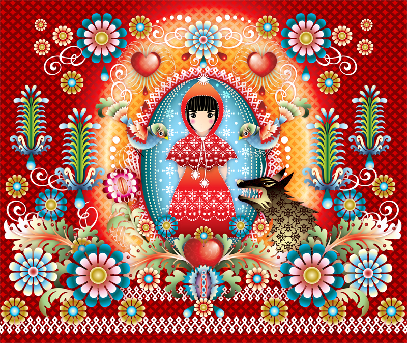 mural Catalina Estrada little red