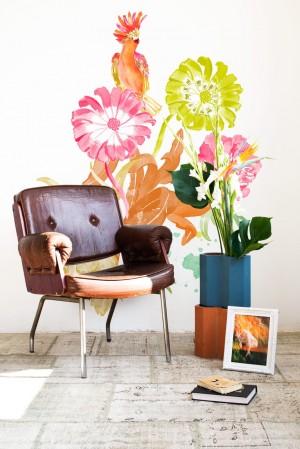 cocktoo mural flower nature