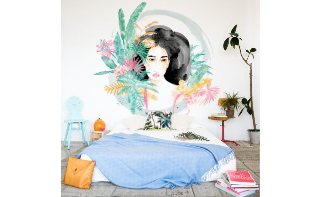 mural wild woman jungle