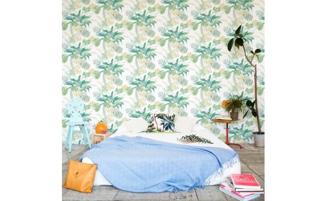 wallpaper jungle leaves green