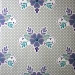 wallpaper,Catalina,Estrada,pruple,blue,flowers,grey,white,spots