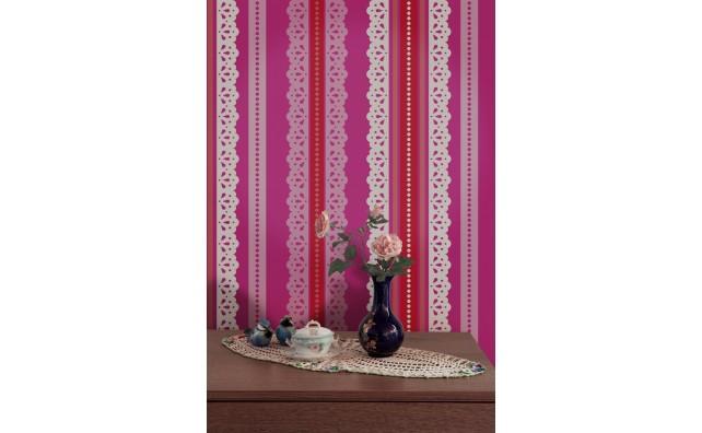 wallpaper,Catalina,Estrada,fucsia,rose,red,lace,white