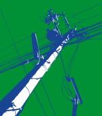 Green Telegraph Pole Mural