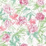 behang rozen groen roze