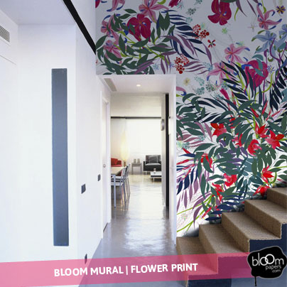 Bloom mural - flower print