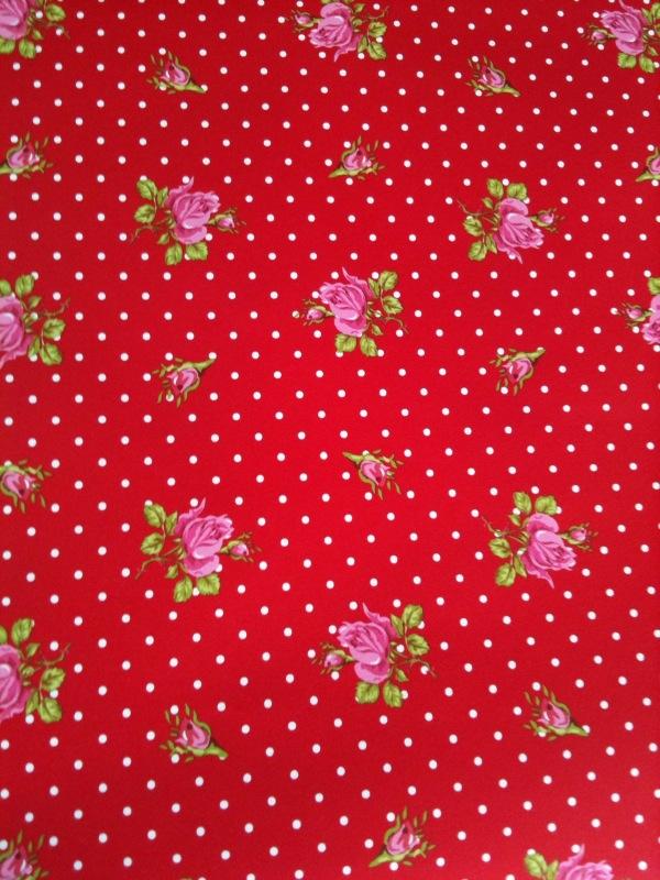 Papel Pintado Flores Rojas