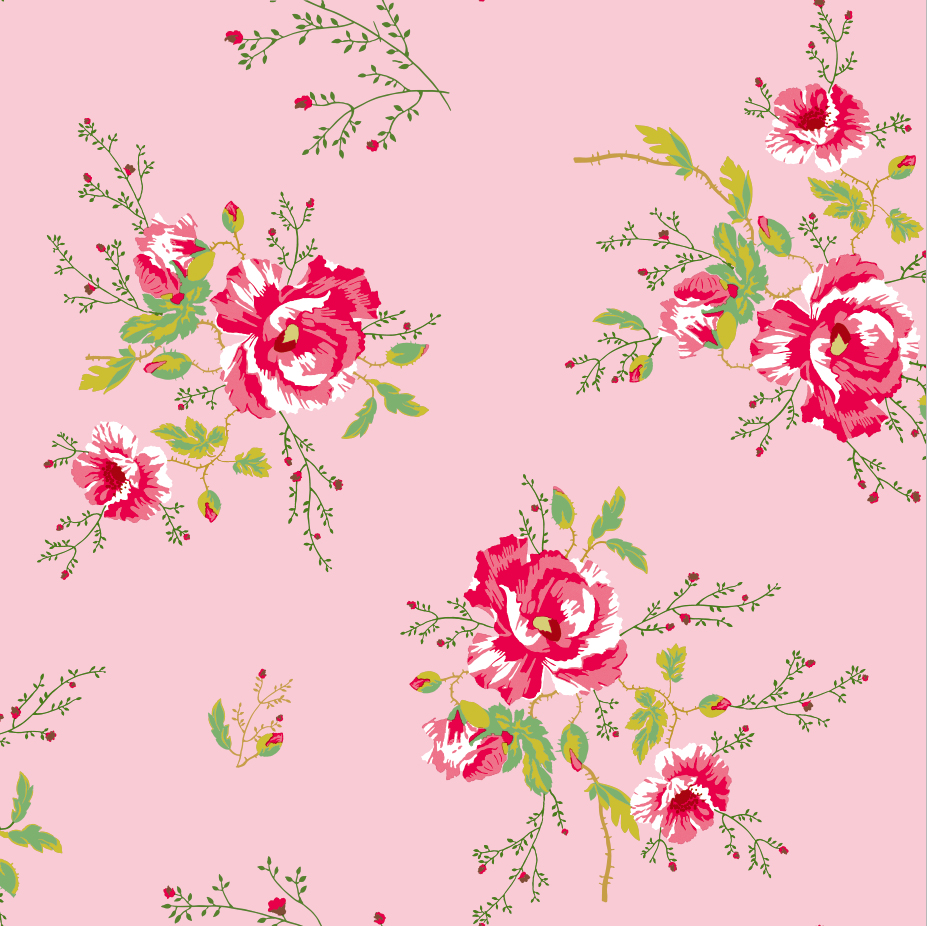 Papel Pintado Winter Poppies Pink