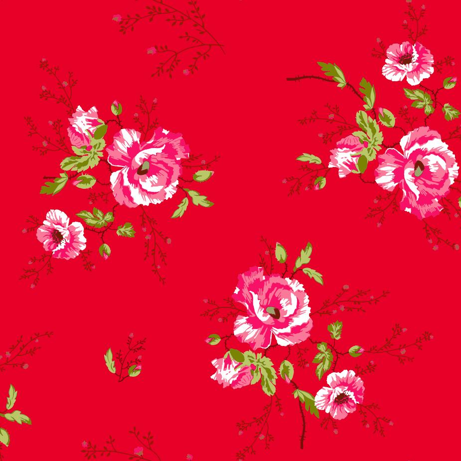 Papel Pintado Winter Poppies Red