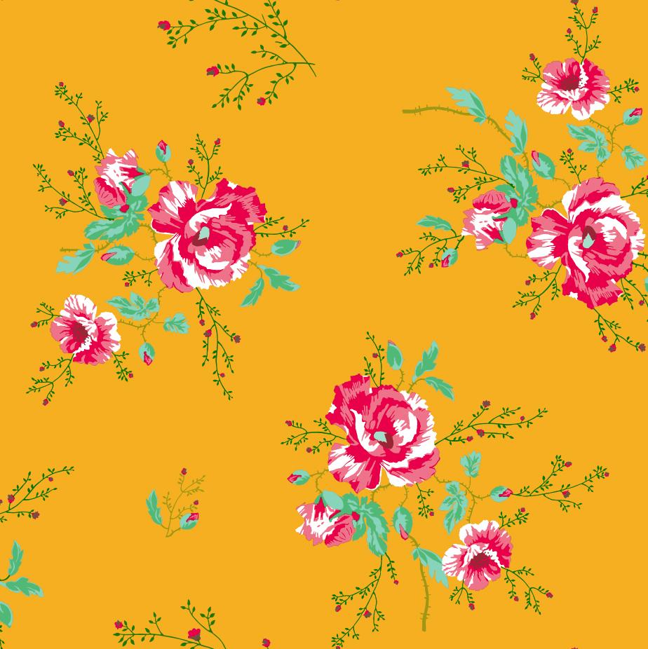 Papel Pintado Winter Poppies Yellow