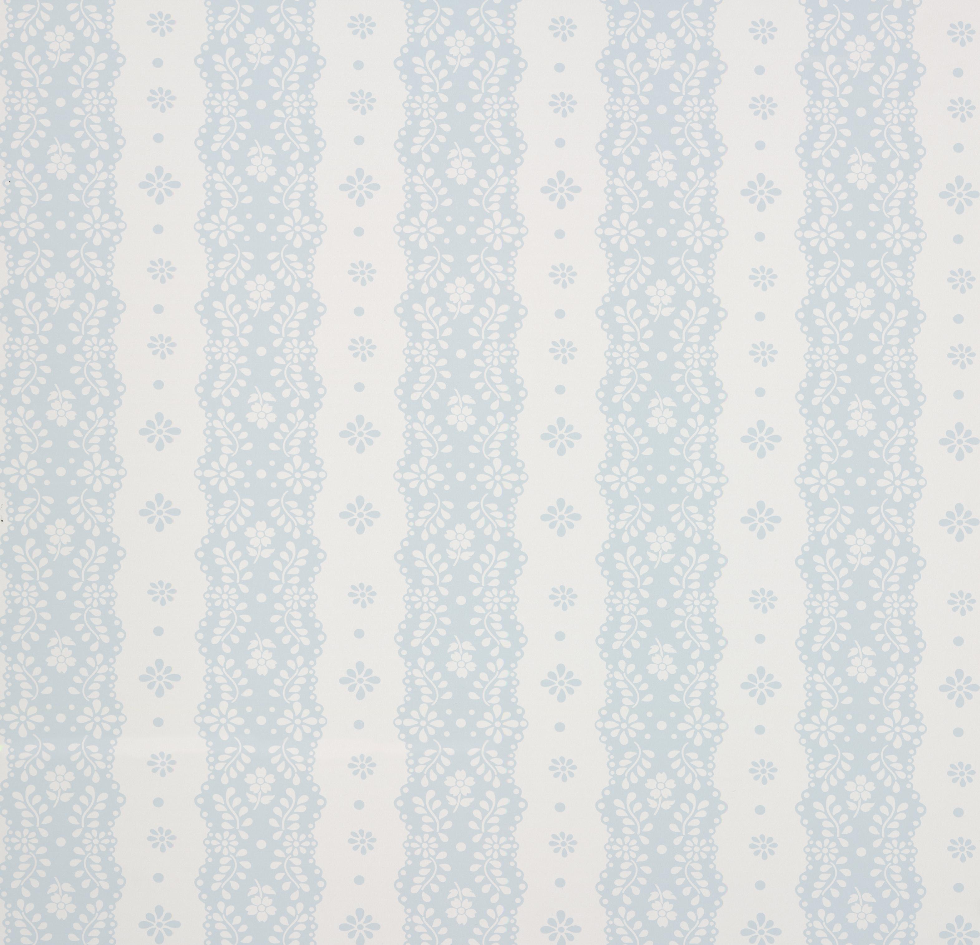 Papel Pintado Dentelle Stripe Pale Blue