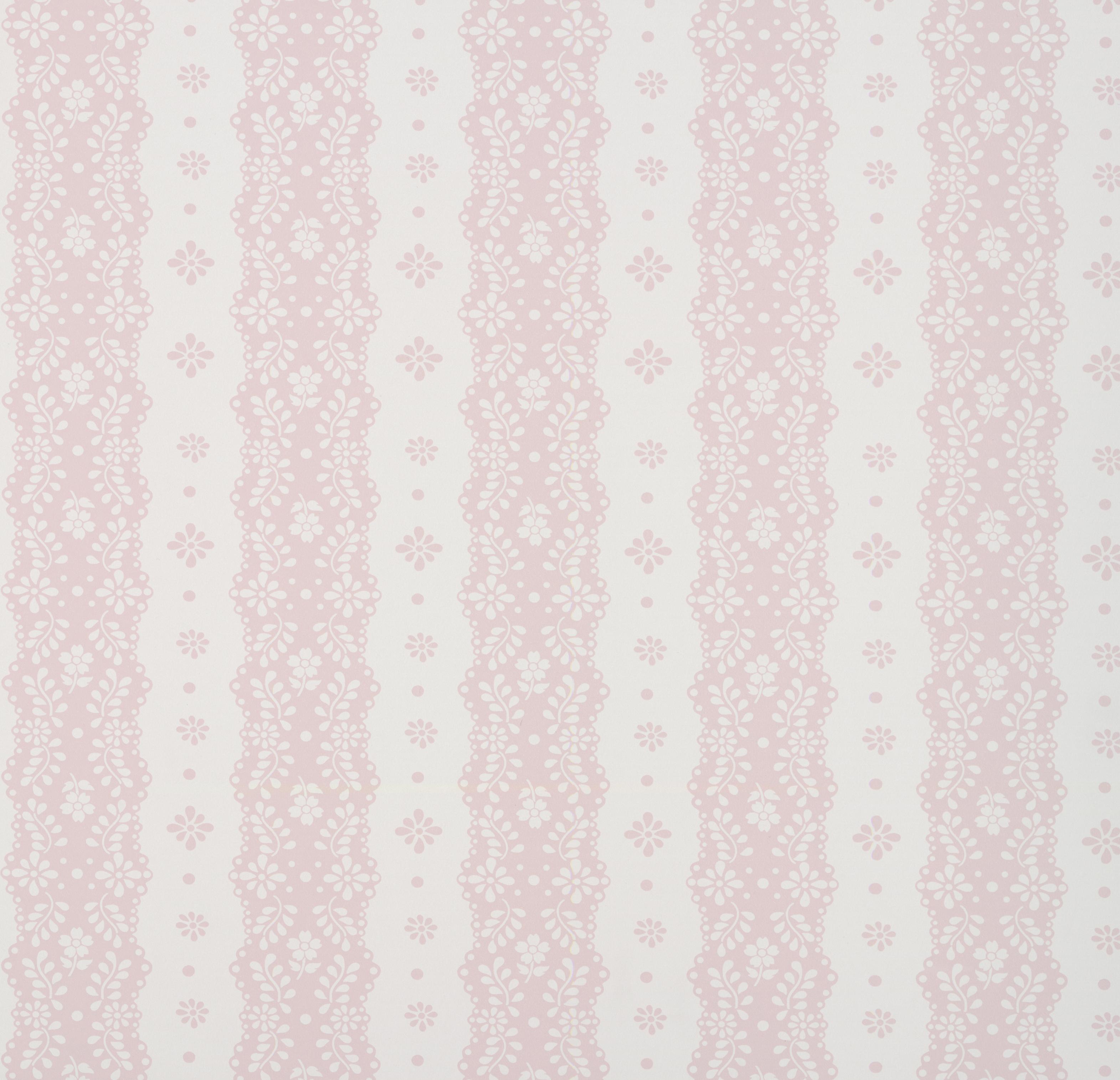 Papel Pintado Dentelle Stripe Pink