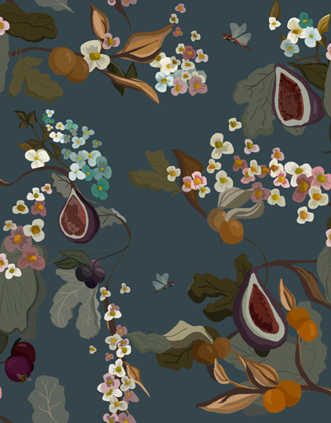 Fruits Navy wallpaper by Joselu Montojo