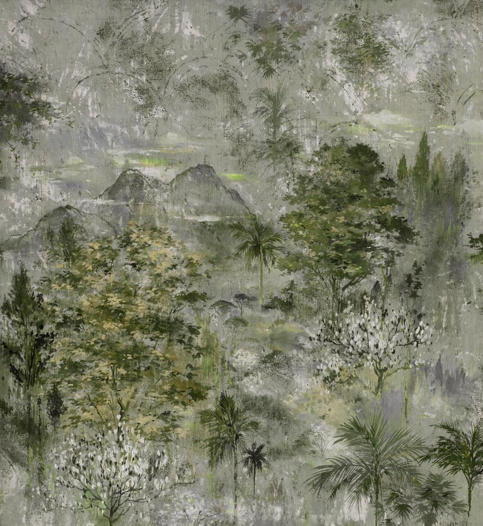 Mural Glass Green