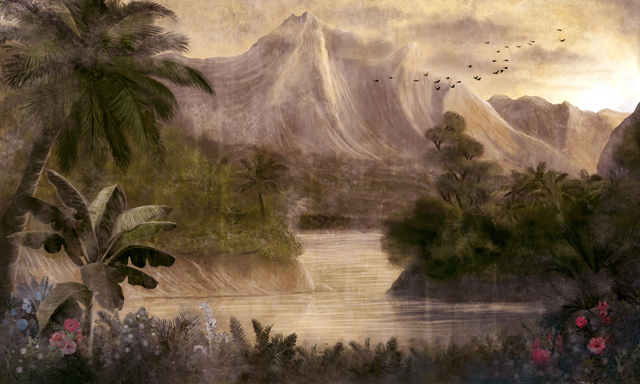 Mural Kodo Rose