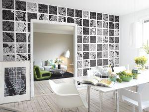 Mural Plano Ciudad Blanco y Negro