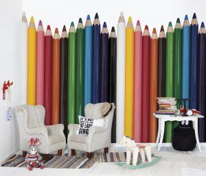 mural infantil lápices