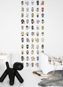 mural infantil personajes