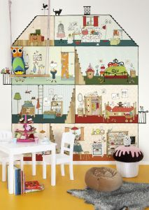 mural infantil hogar dulce hogar