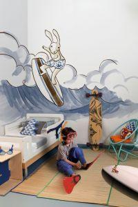 mural infantil bora bora azul