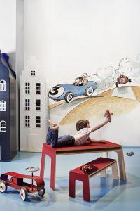 mural infantil racing