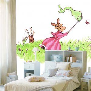 mural infantil butterfly
