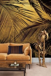 Mural Palms Gold