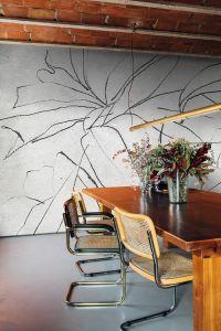 Mural Abstract Flora Concrete