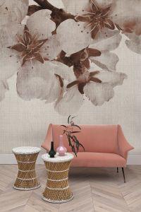 Mural Big Random Flora Pink