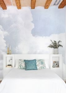 Mural Clouds Light Azul