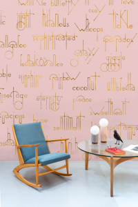 Mural Beautiful Words Pink by Isabelita Virtual