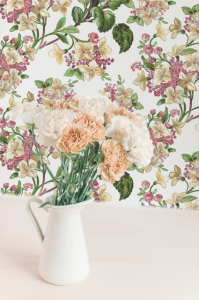 Papel pintado Flowery White