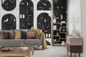 Mural Rostros Black