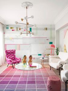 Mural Pixels Pink/Green