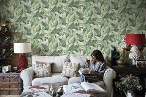 Papel Pintado Banano Verde