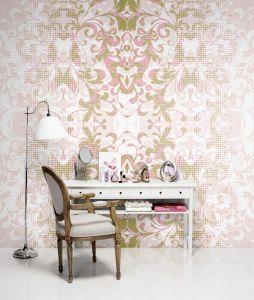 Mural Formas y Sombras Rosa