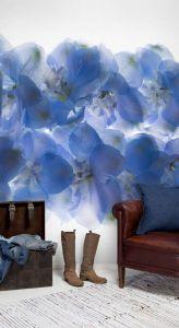 Mural Mundo de Flores Azul