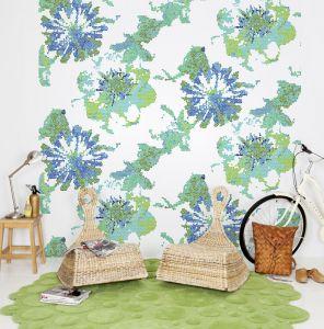 Mural Flores de Cuadro Verde