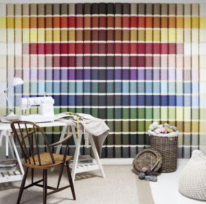 Mural Bobinas Colores Vivos