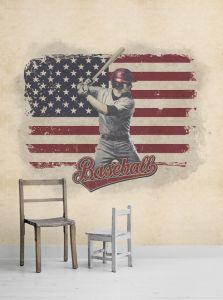 Mural Béisbol Beige
