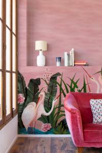 Mural Wetlands Pink by Laura Torroba