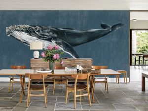 Mural Humpback Whale Vintage