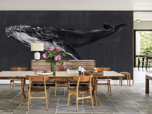 Mural Humpback Whale Night