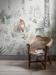 Papel pintado Magic Forest White
