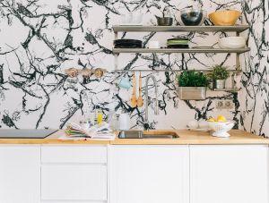 Papel Pintado Marble White