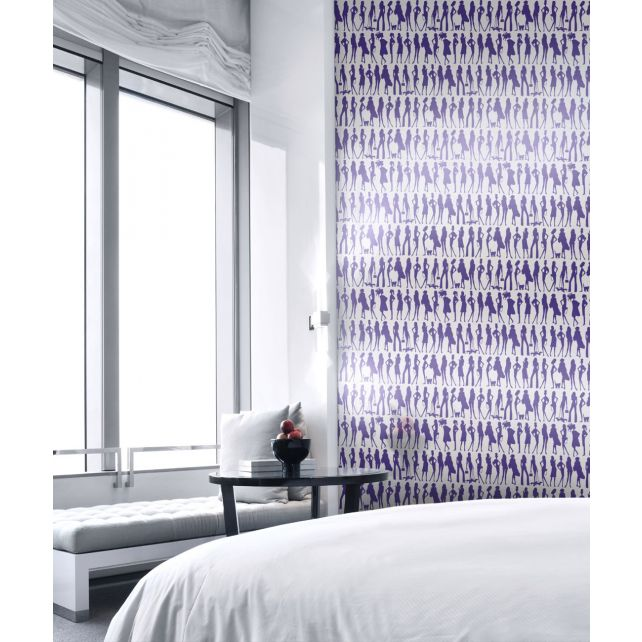 Papel Pintado Jordi Labanda Bond Girls Color Violeta
