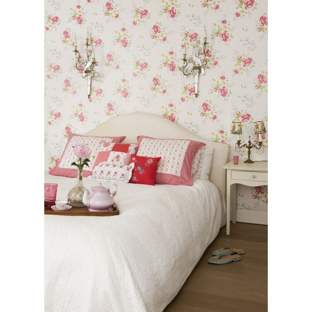 papel,pintado,Room,Seven,amapolas,rojas,rosa