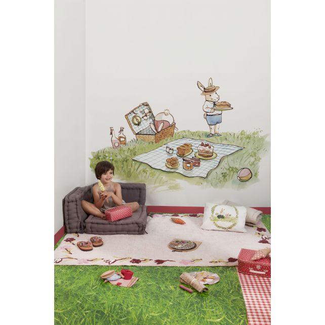 mural infantil picnic