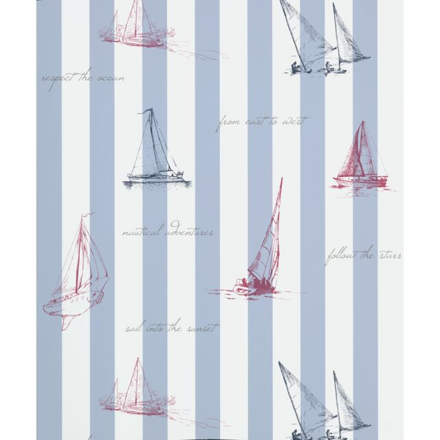 Papel Pintado Sailing Azul