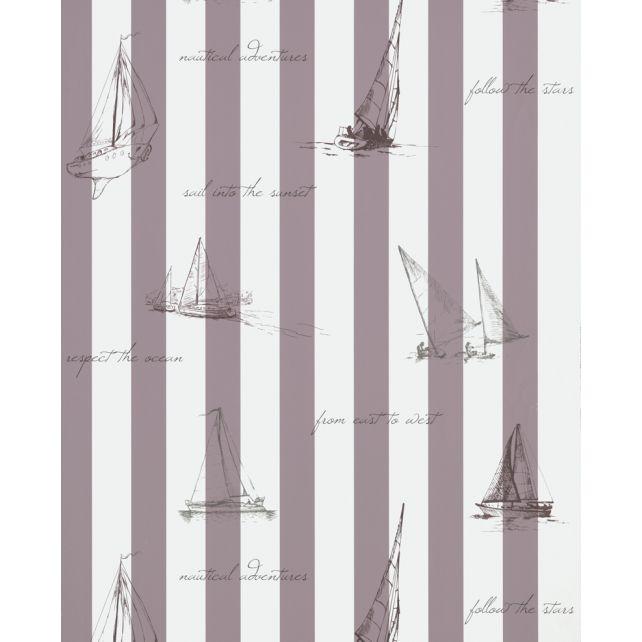 Papel Pintado Sailing Malva