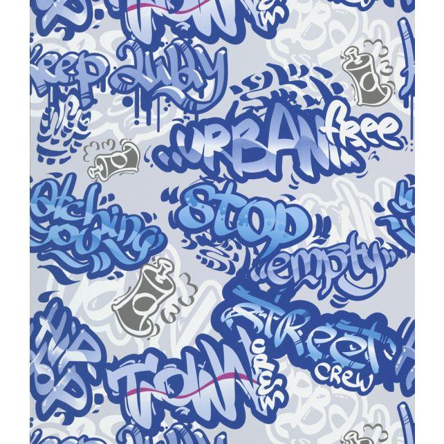 Papel Pintado Graffiti Azul